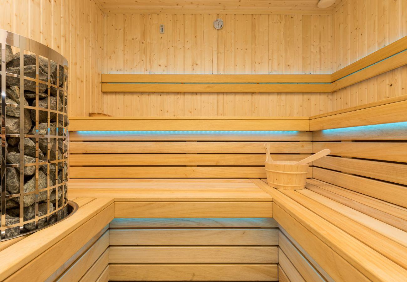 wnętrze, sauna, wynajem