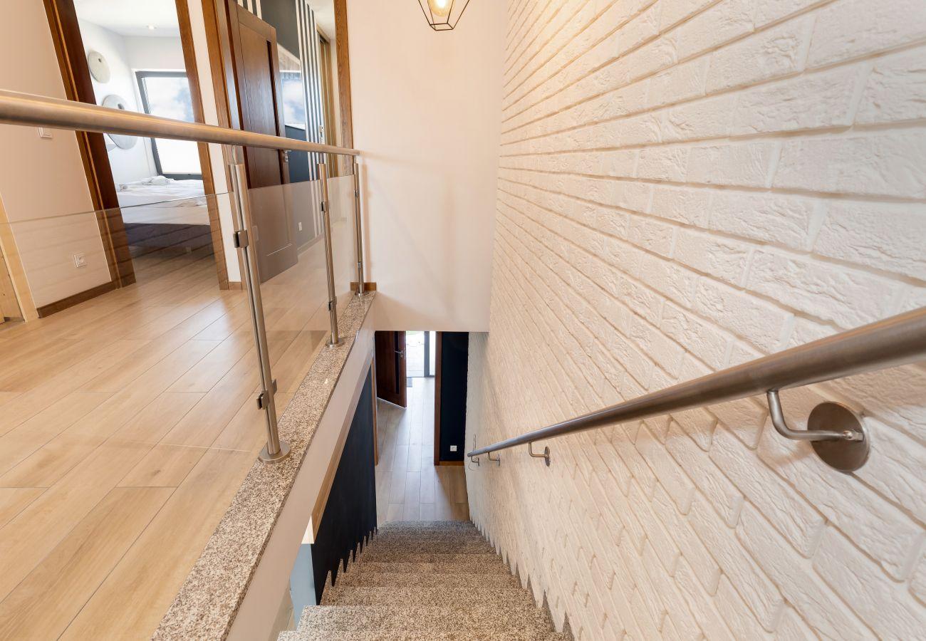 wnętrze, piętro, schody, wynajem