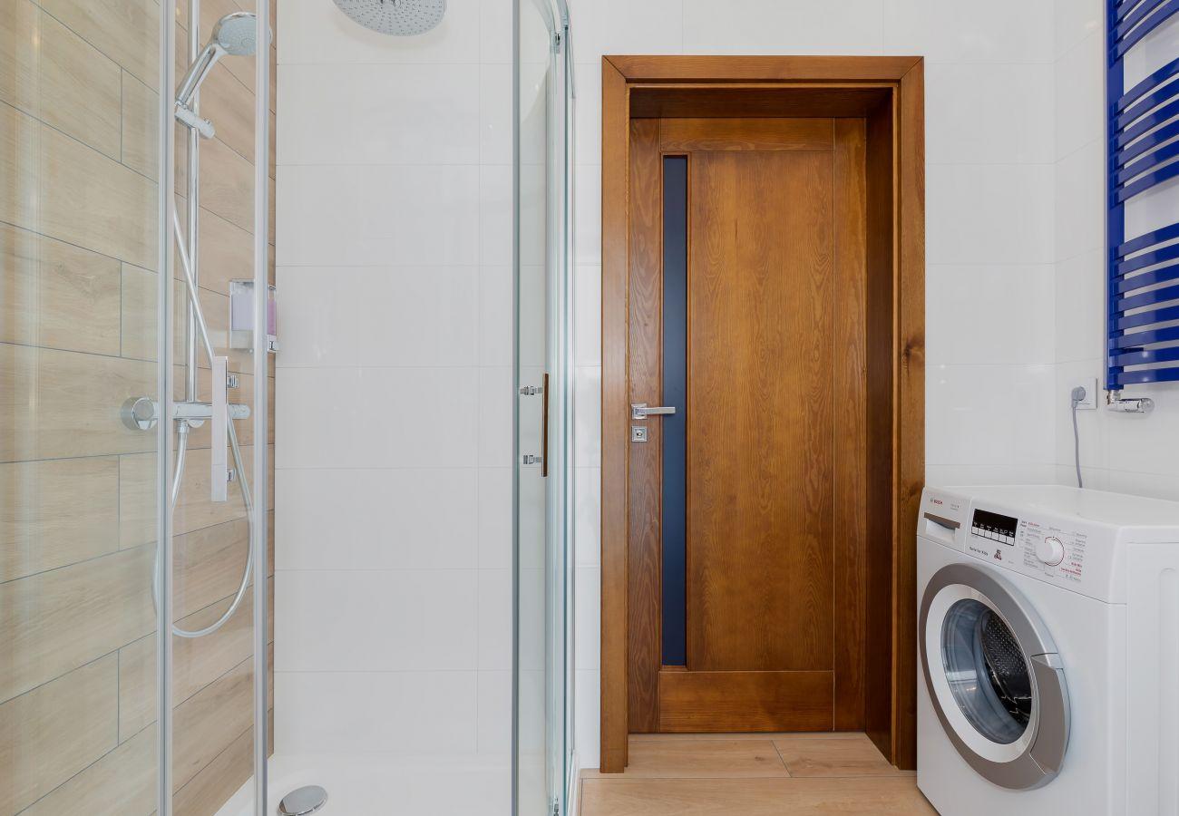 łazienka, prysznic, umywalka, toaleta, pralka, wynajem