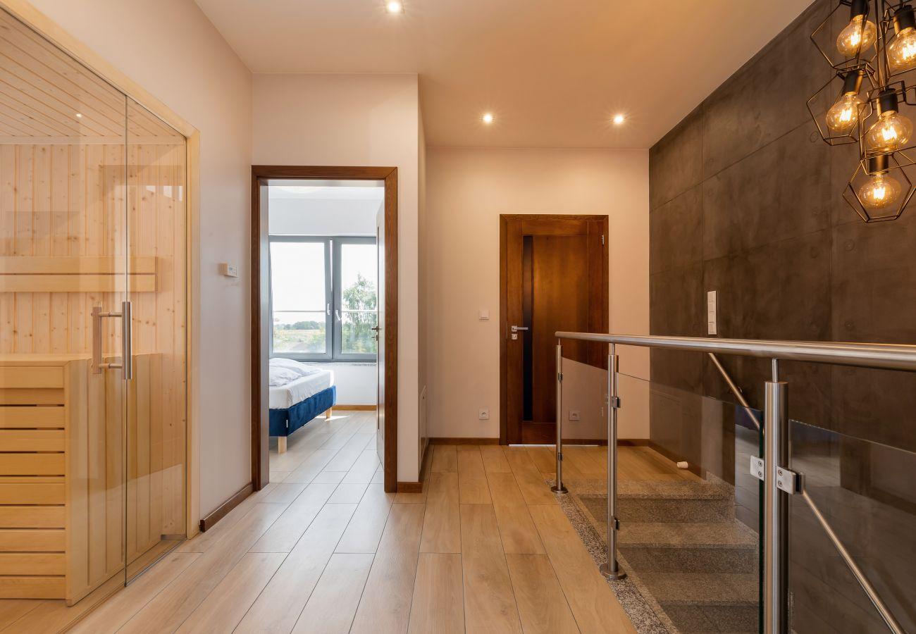 wnętrze, schody, sauna, korytarz, piętro, wynajem