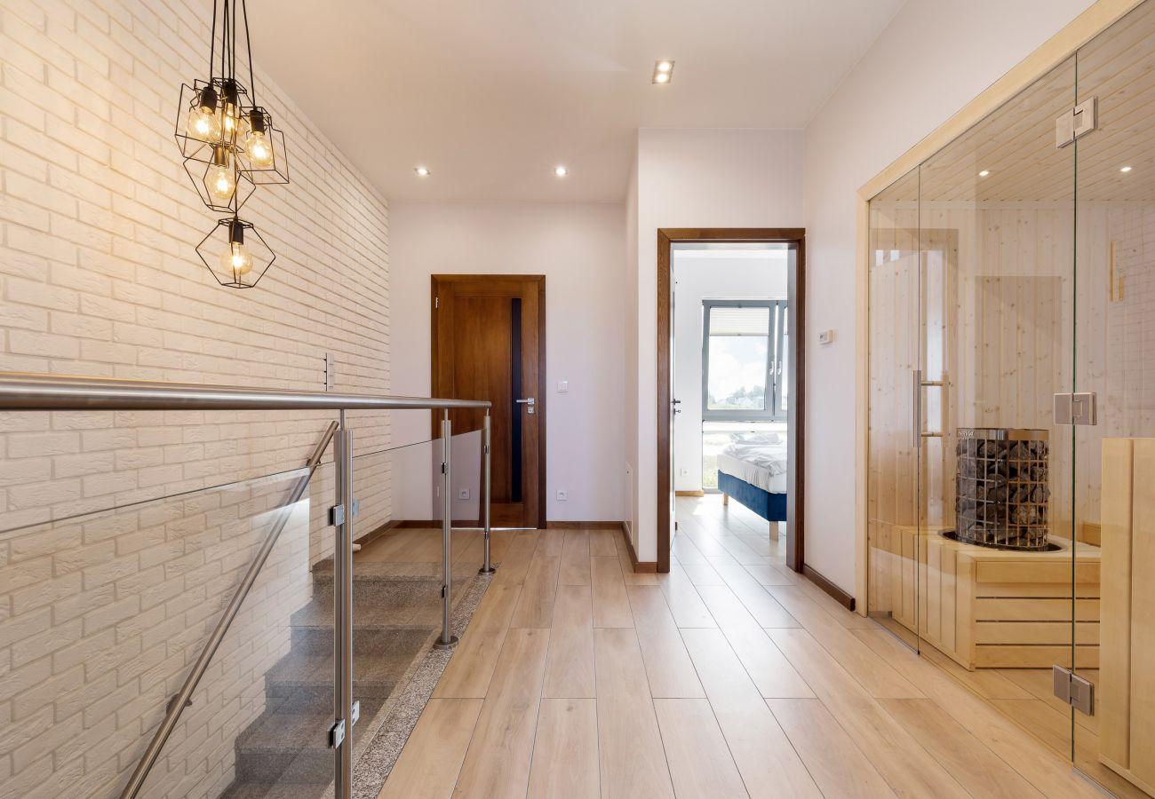 wnętrze, korytarz, piętro, sauna, schody, schody, wynajem