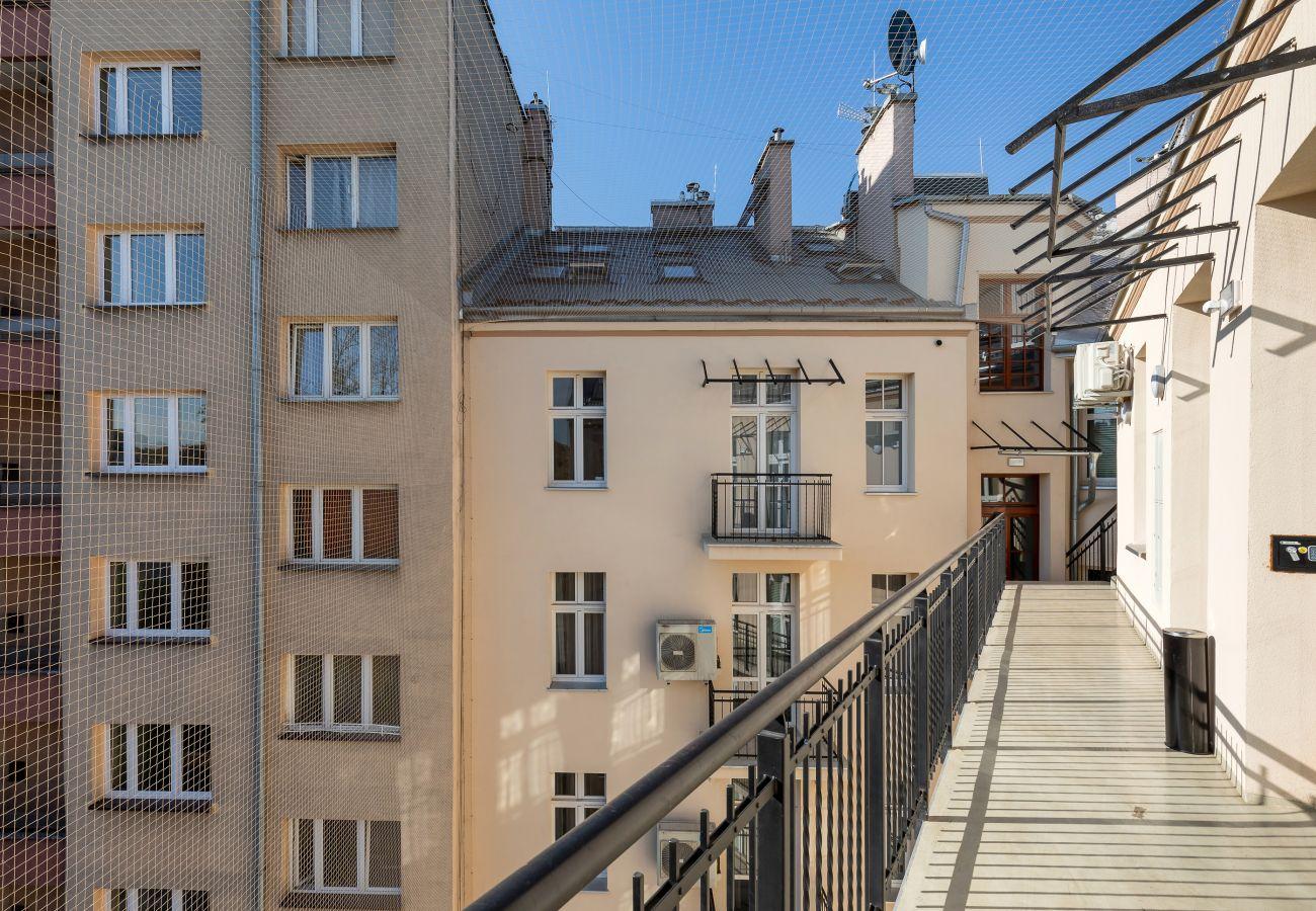 balkon, widok, widok na zewnątrz, wynajem