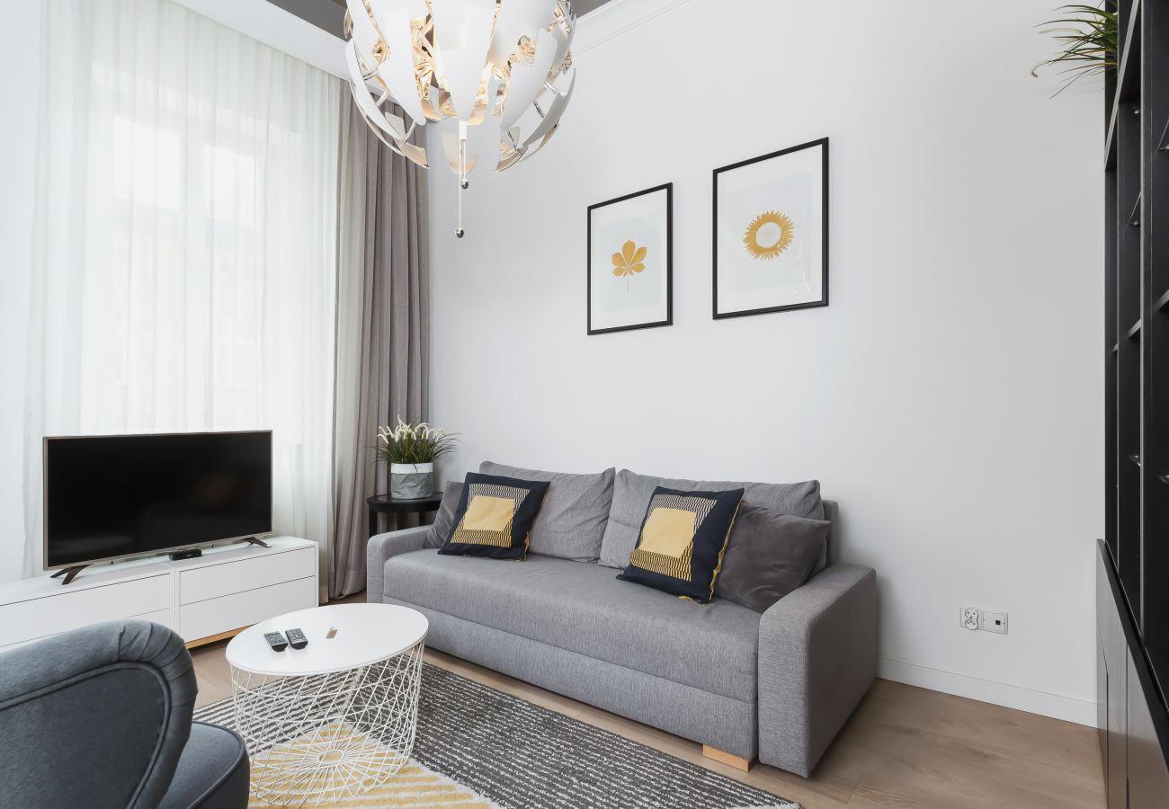 apartament, salon, sofa, TV, fotel, wynajem
