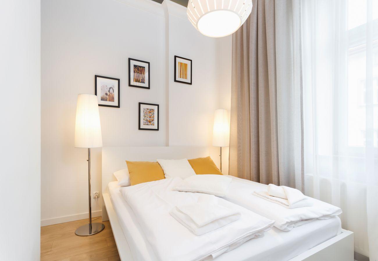 apartament, sypialnia, wynajem, łóżko, pościel
